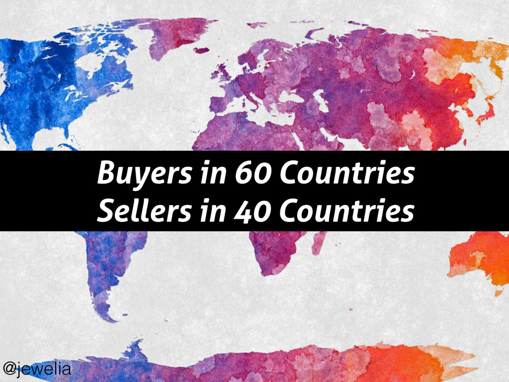Buyers in 60 Countries Sellers in 40 Countries ...
