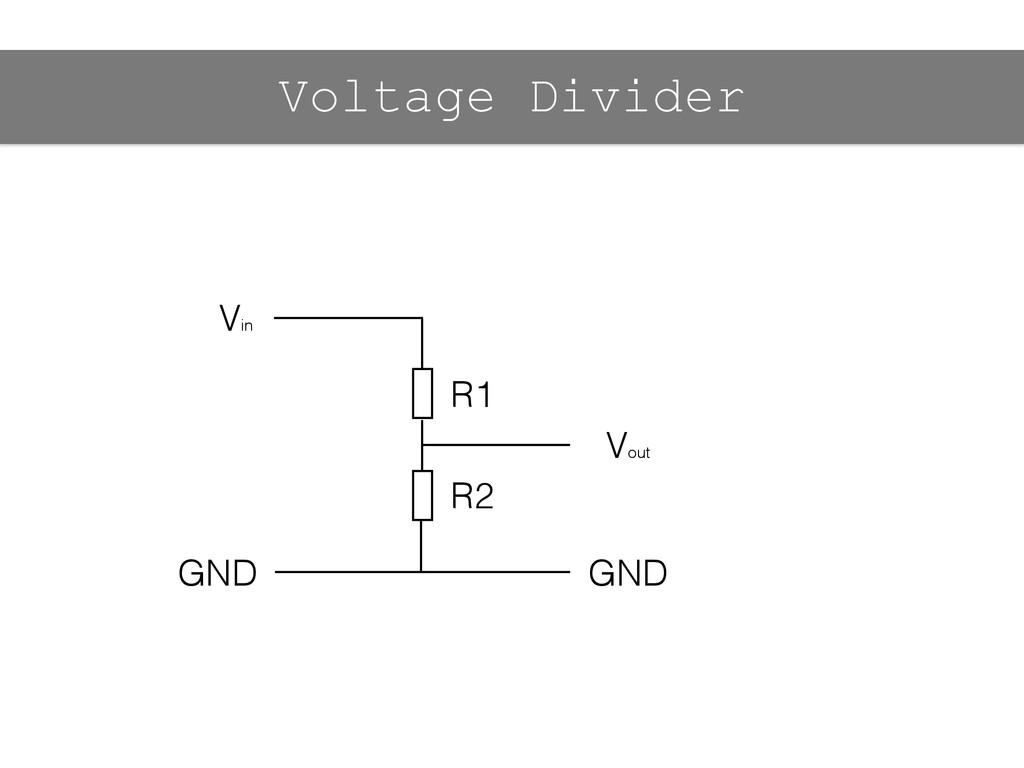 Vin Vout GND GND R1 R2 Voltage Divider