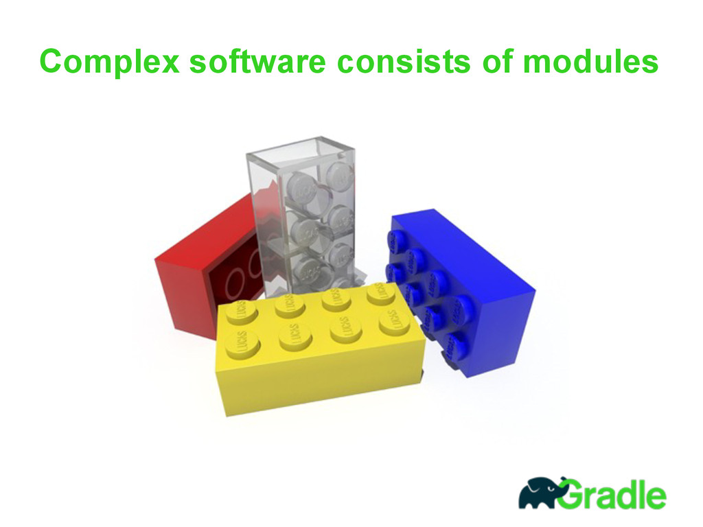 Complex software consists of modules