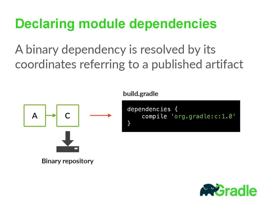 Declaring module dependencies A binary depend...