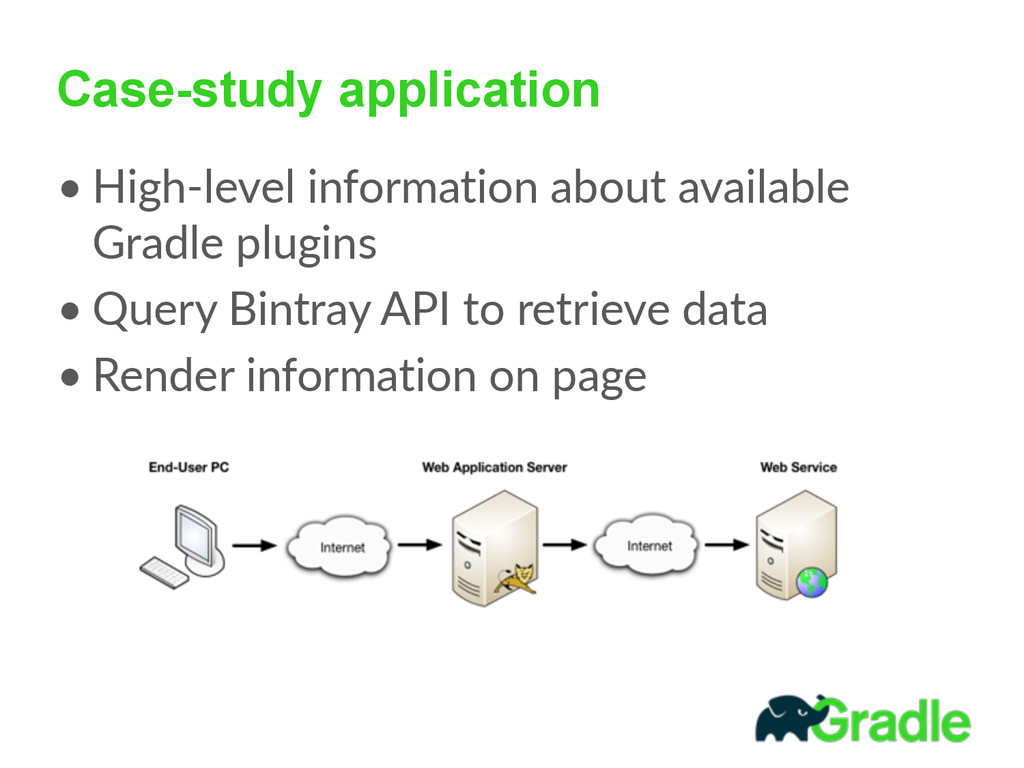 Case-study application • High-‐level informat...