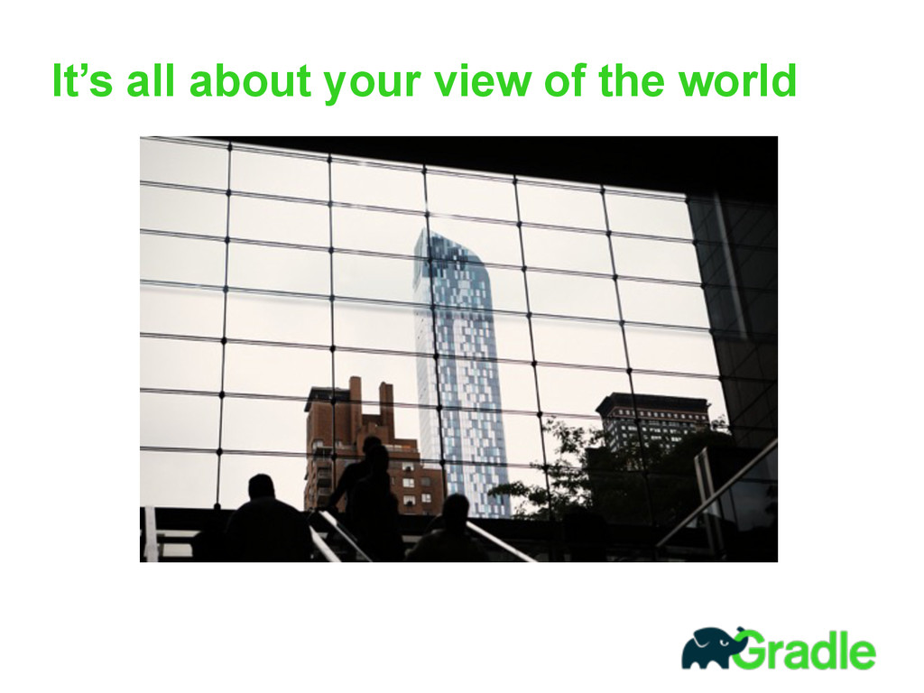 It's all about your view of the world