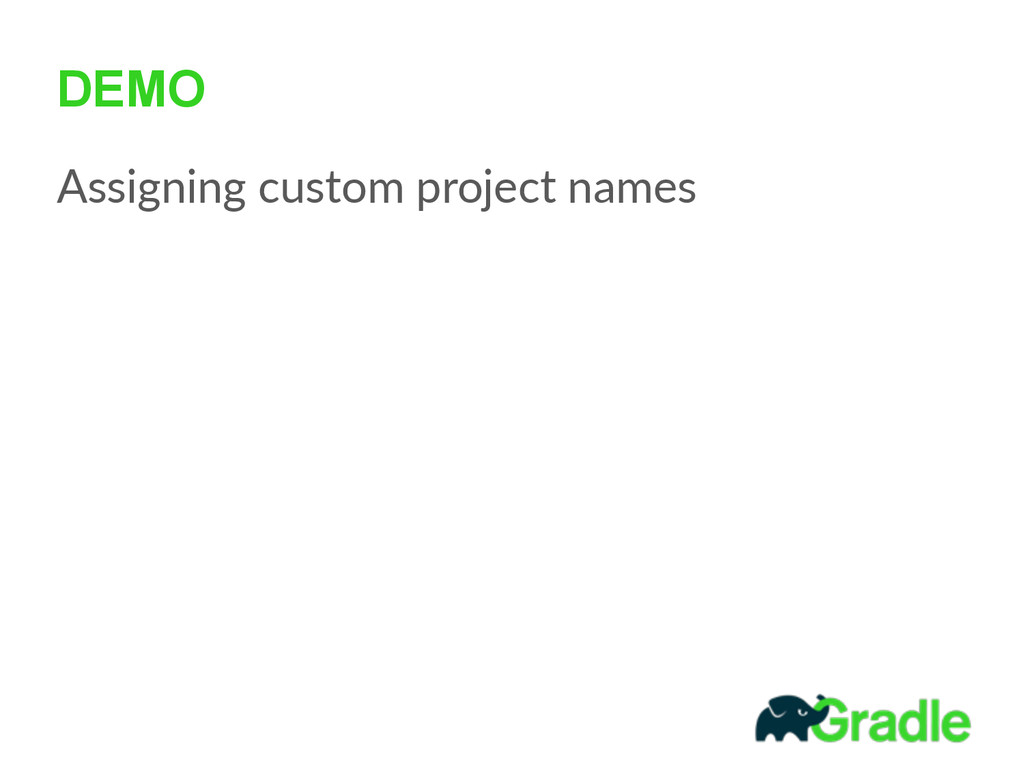 DEMO Assigning custom project names