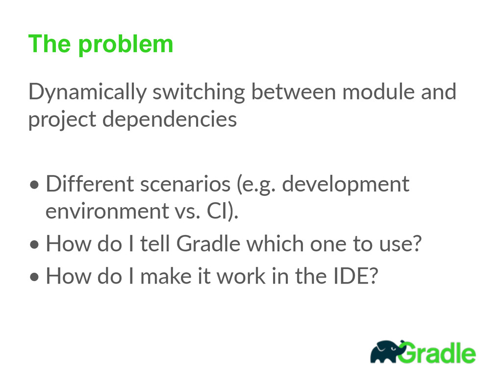 The problem Dynamically switching between mo...