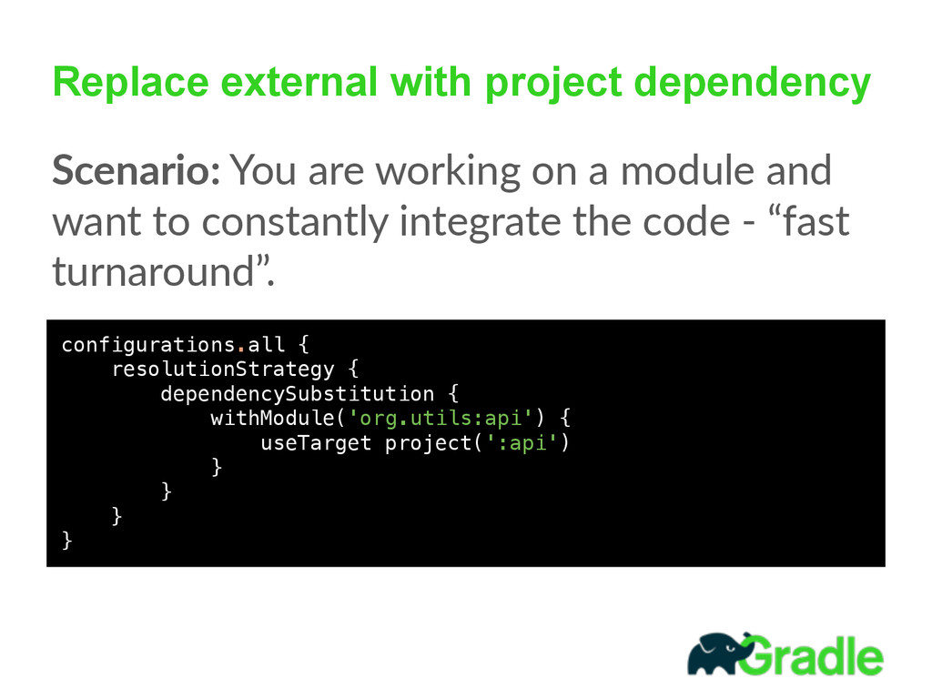 Replace external with project dependency Scenar...