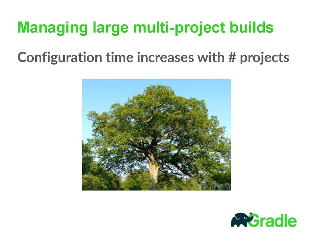 Managing large multi-project builds Configurati...