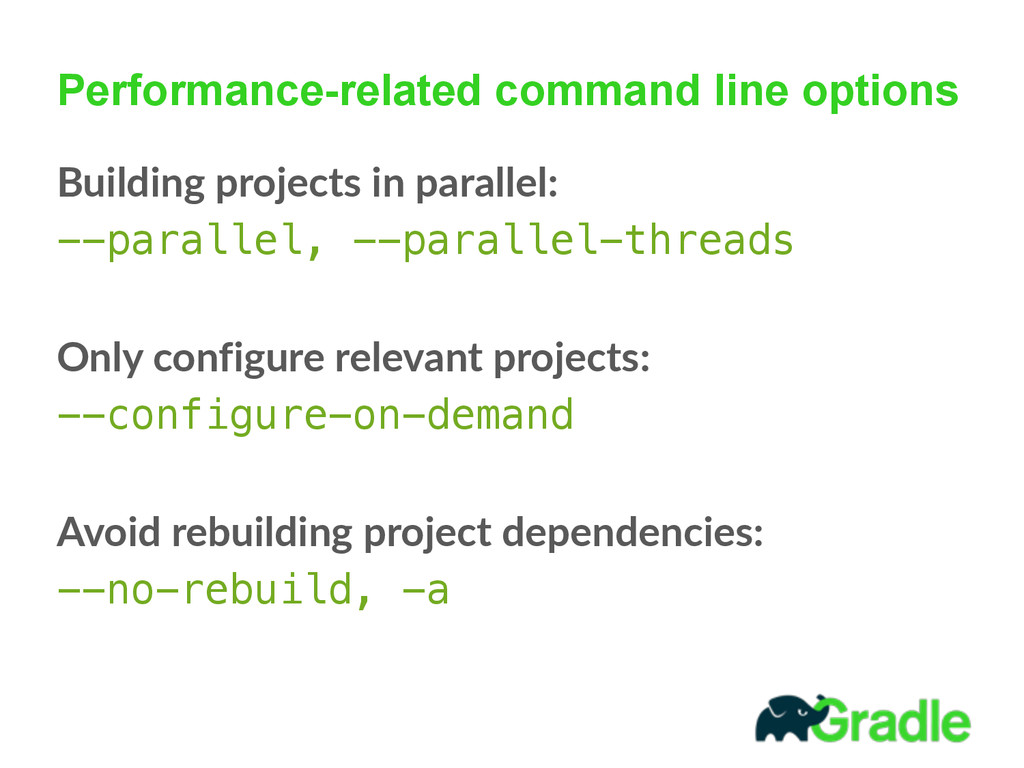 Performance-related command line options Buildi...