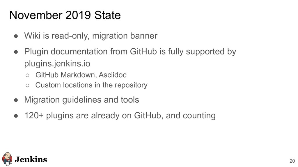 November 2019 State ● Wiki is read-only, migrat...