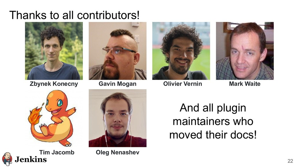 Thanks to all contributors! 22 Zbynek Konecny A...