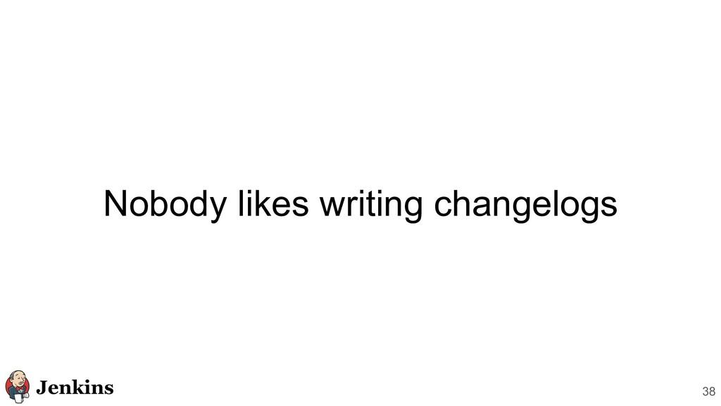 Nobody likes writing changelogs 38