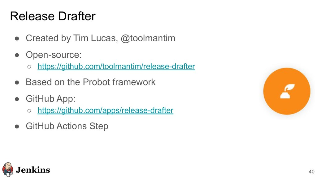 40 ● Created by Tim Lucas, @toolmantim ● Open-s...
