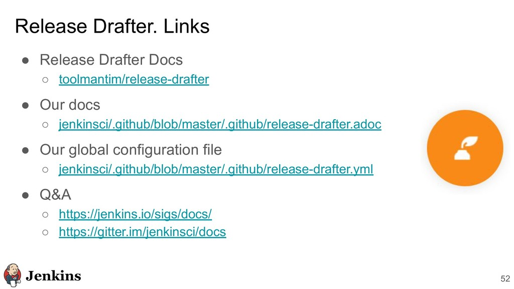 ● Release Drafter Docs ○ toolmantim/release-dra...