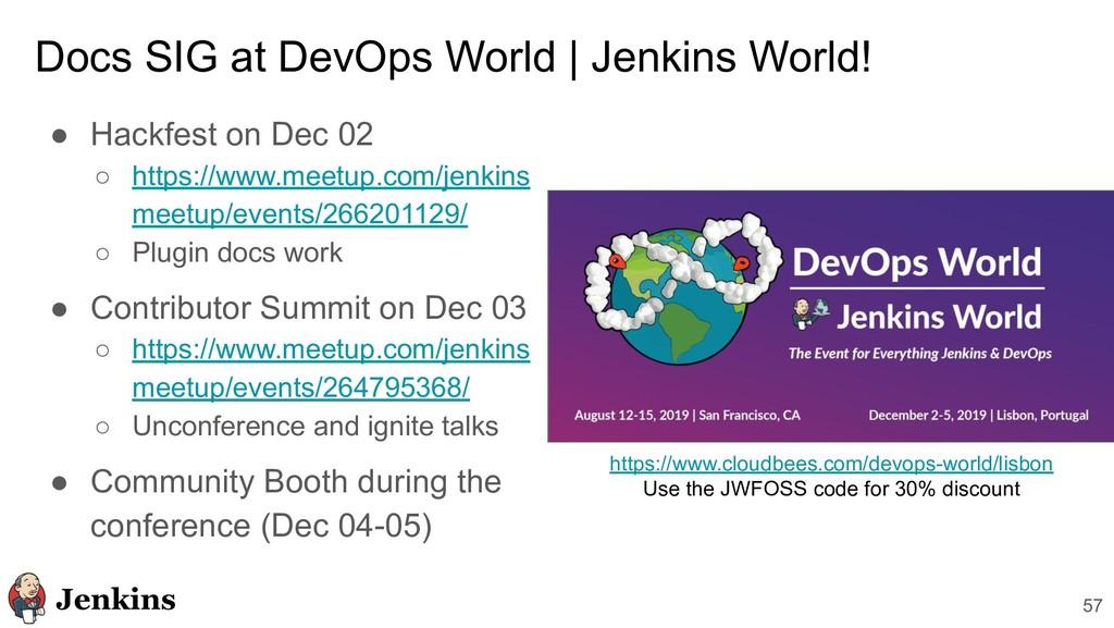Docs SIG at DevOps World | Jenkins World! ● Hac...