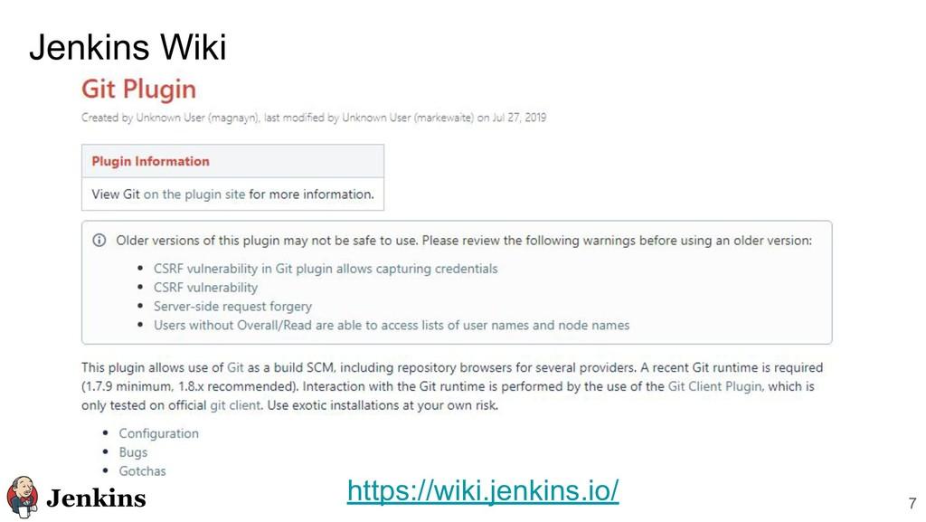 Jenkins Wiki 7 https://wiki.jenkins.io/