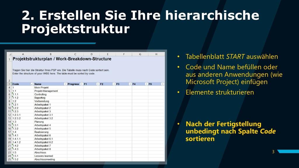 3 2. Erstellen Sie Ihre hierarchische Projektst...