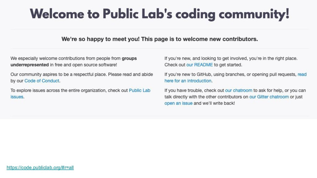 https://code.publiclab.org/#r=all