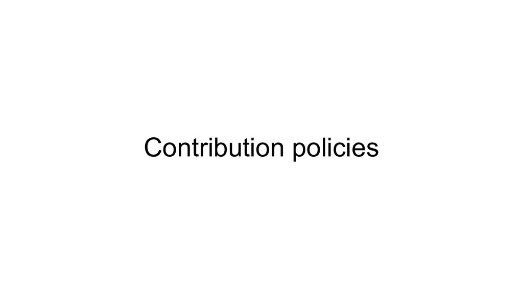 Contribution policies
