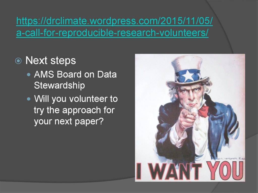 ž Next steps — AMS Board on Data Stewardshi...