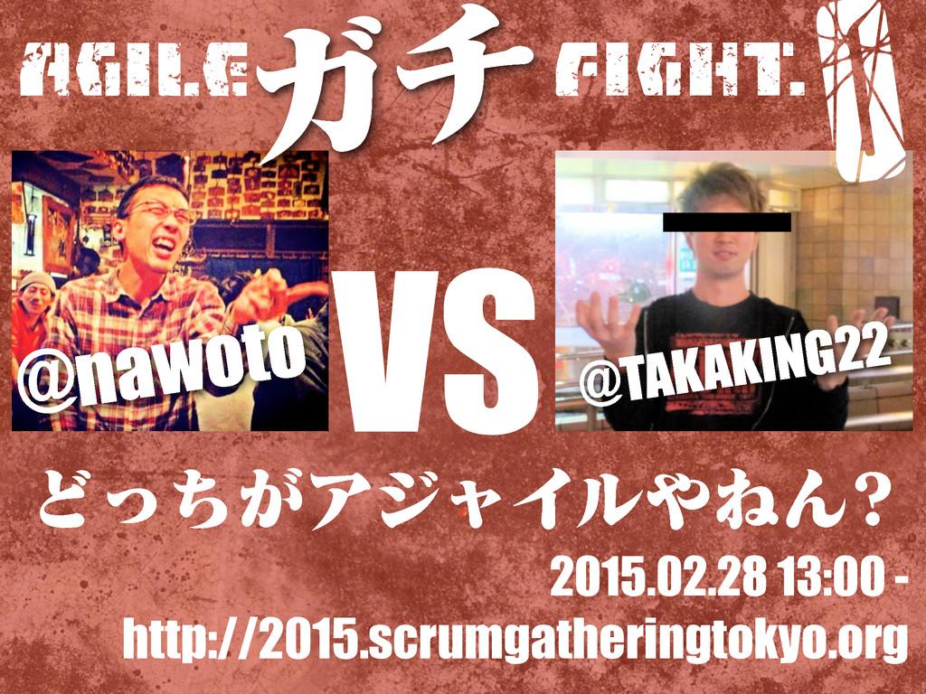 Agile VS FIGHT. Ͳ͕ͬͪΞδϟΠϧͶΜ Ψν 0 2015.02.28 13...