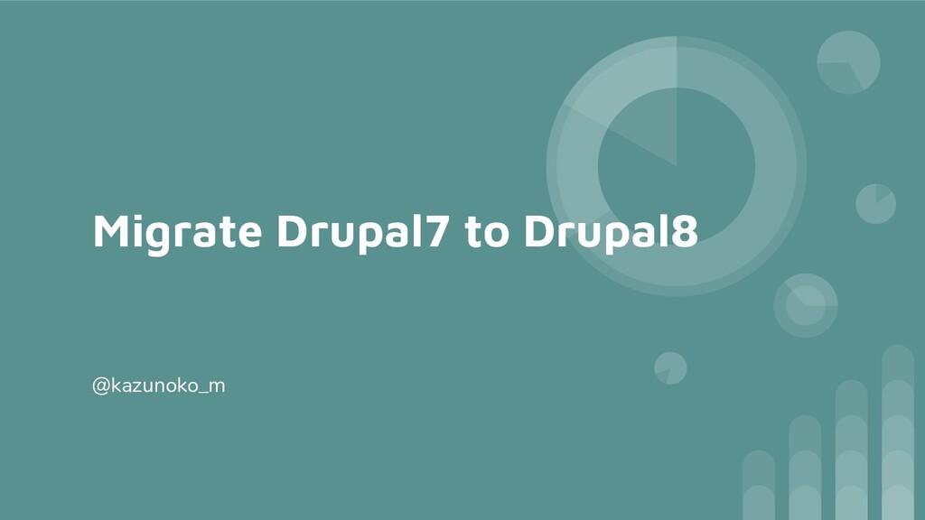 Migrate Drupal7 to Drupal8 @kazunoko_m