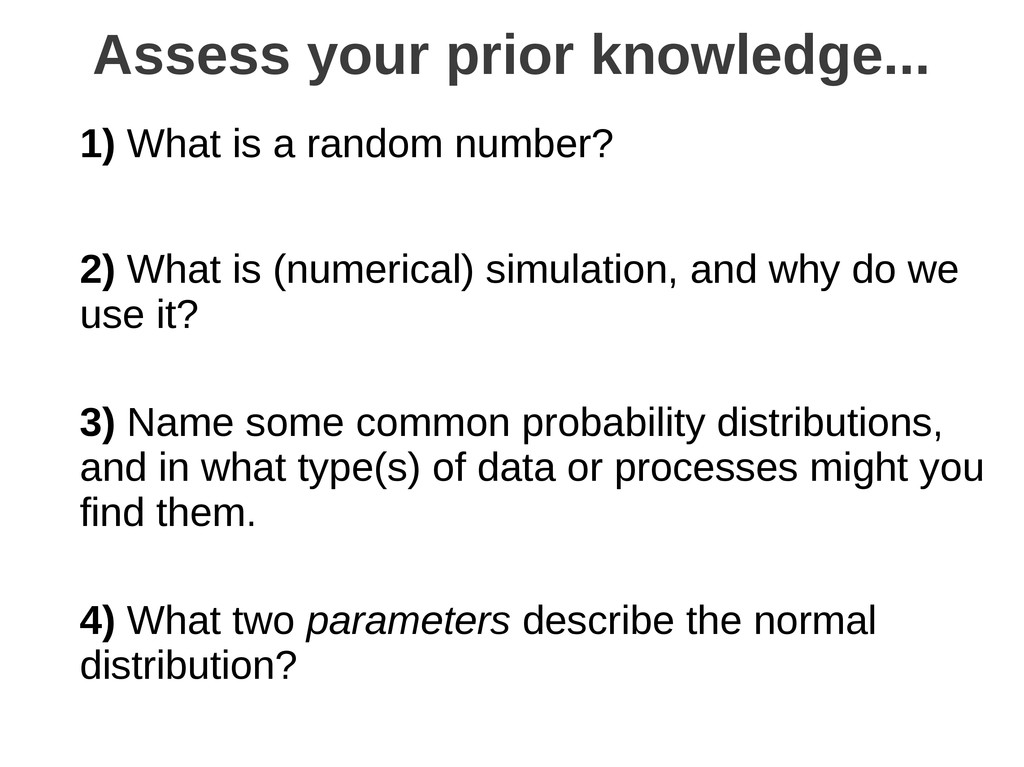1) What is a random number? 2) What is (numeric...