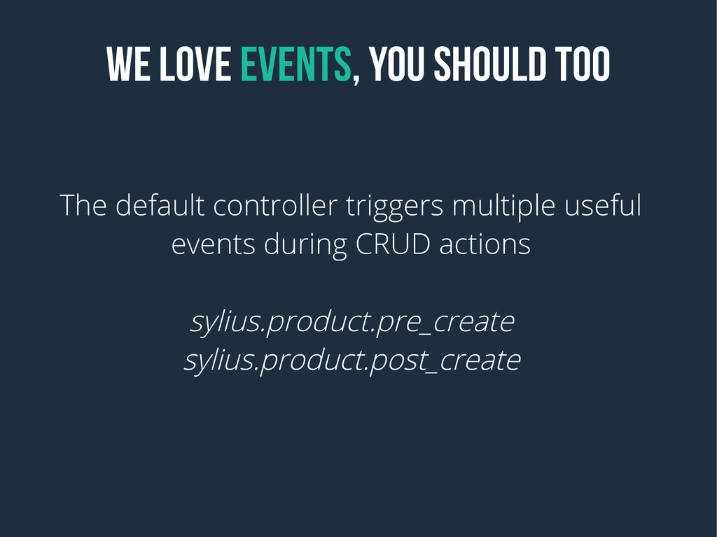 WE LOVE EVENTS, YOU SHOULD TOO The default cont...