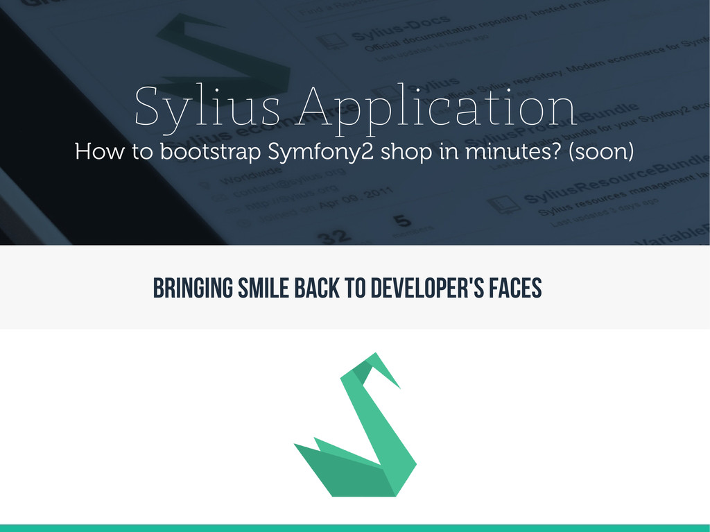 Sylius Application How to bootstrap Symfony2 sh...