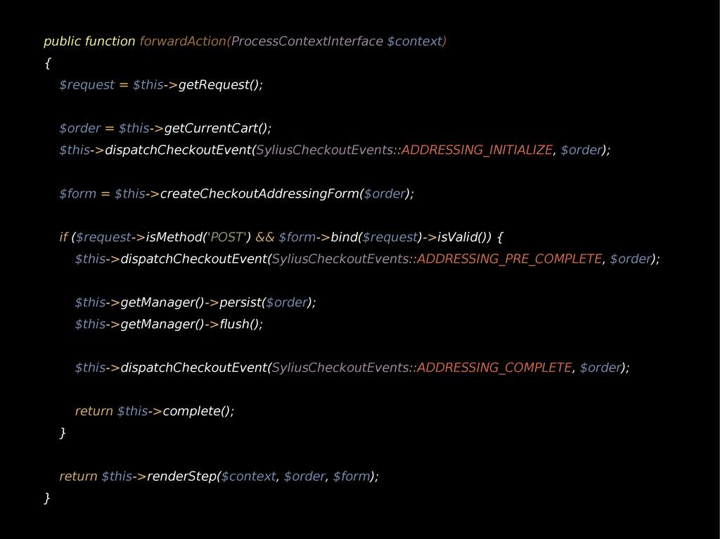 public function forwardAction(ProcessContextInt...