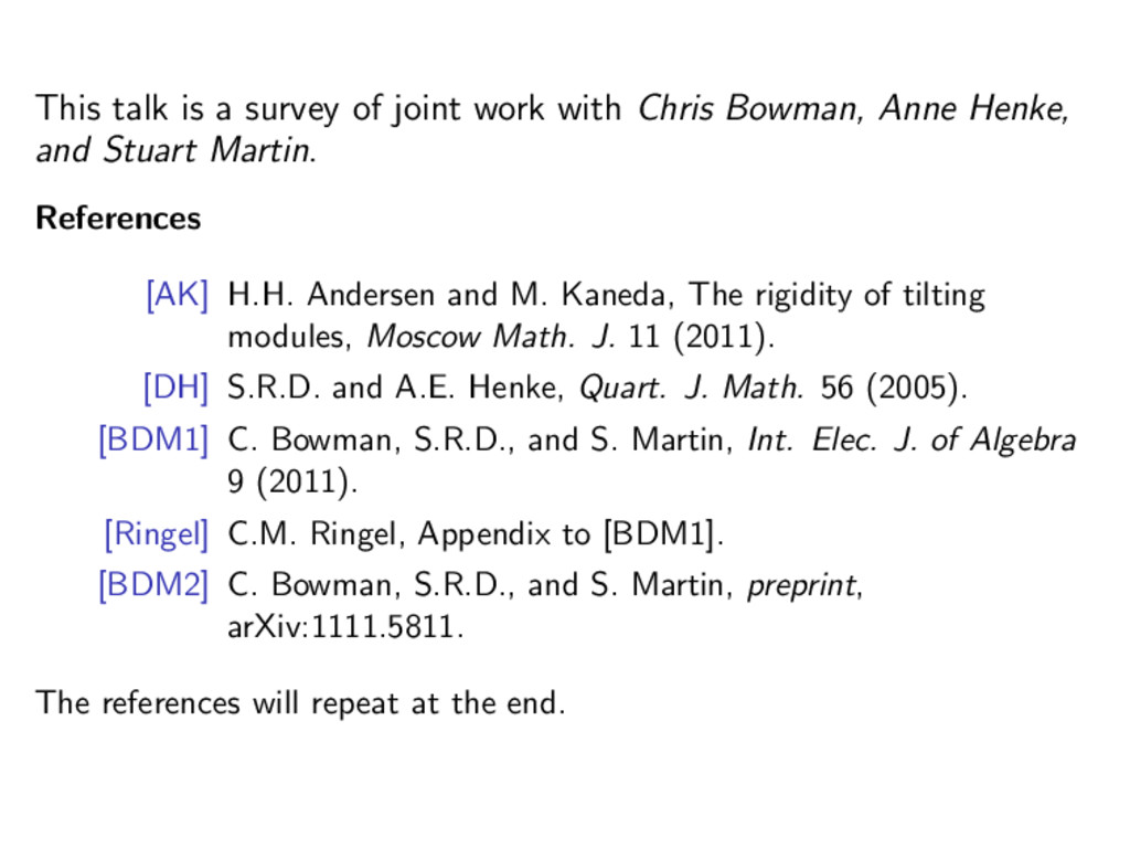 This talk is a survey of joint work with Chris ...