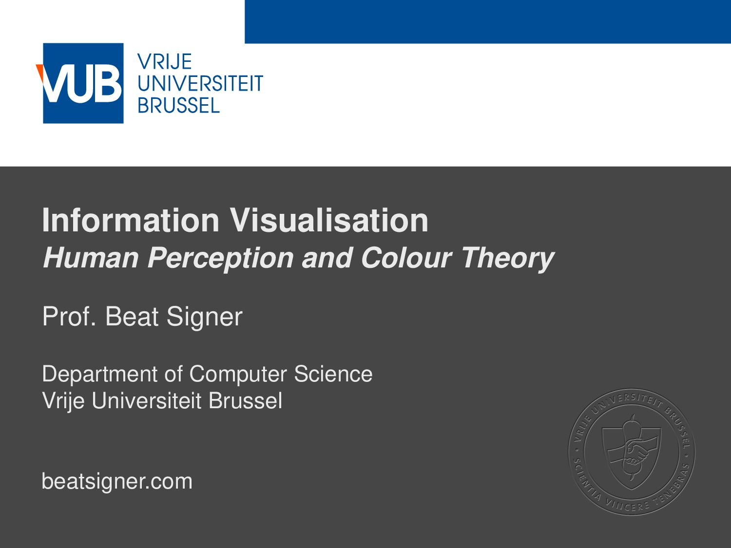 2 December 2005 Information Visualisation Human...