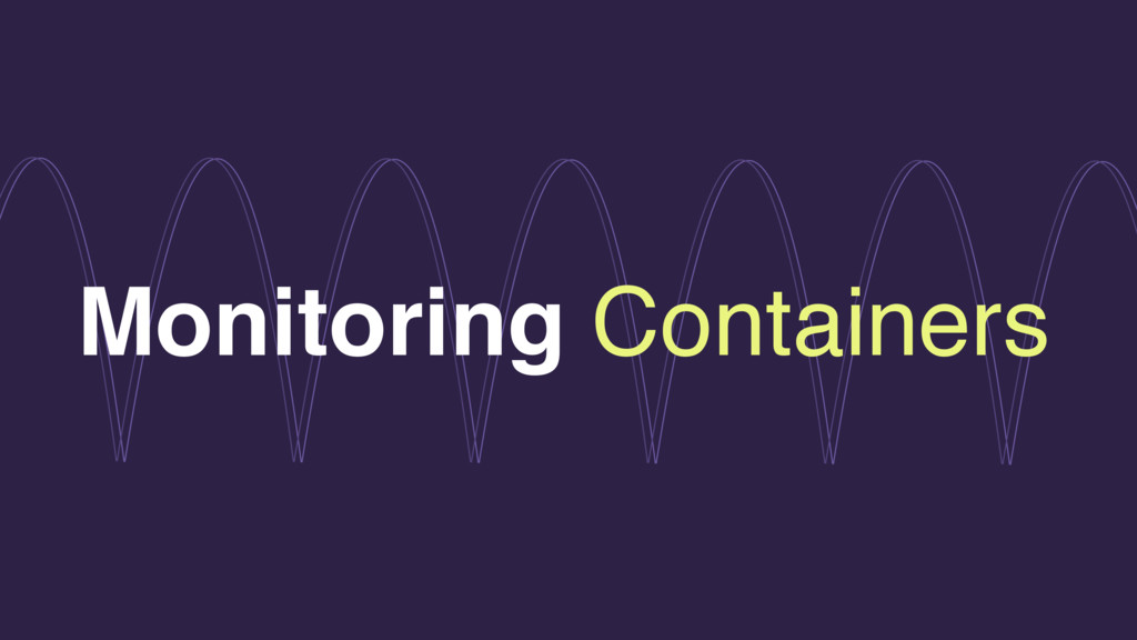 Monitoring Containers