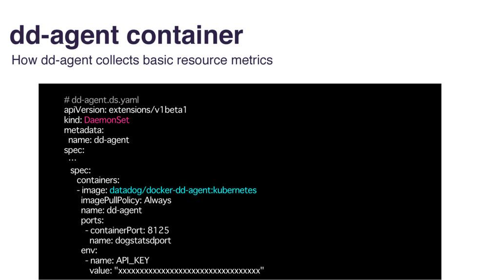 dd-agent container # dd-agent.ds.yaml apiVersio...