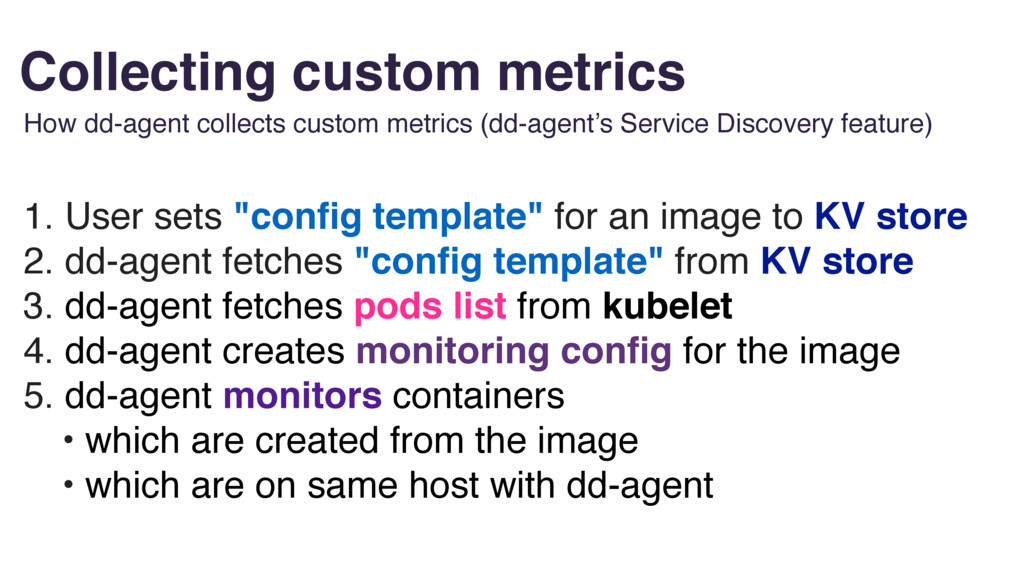 "Collecting custom metrics 1. User sets ""config t..."