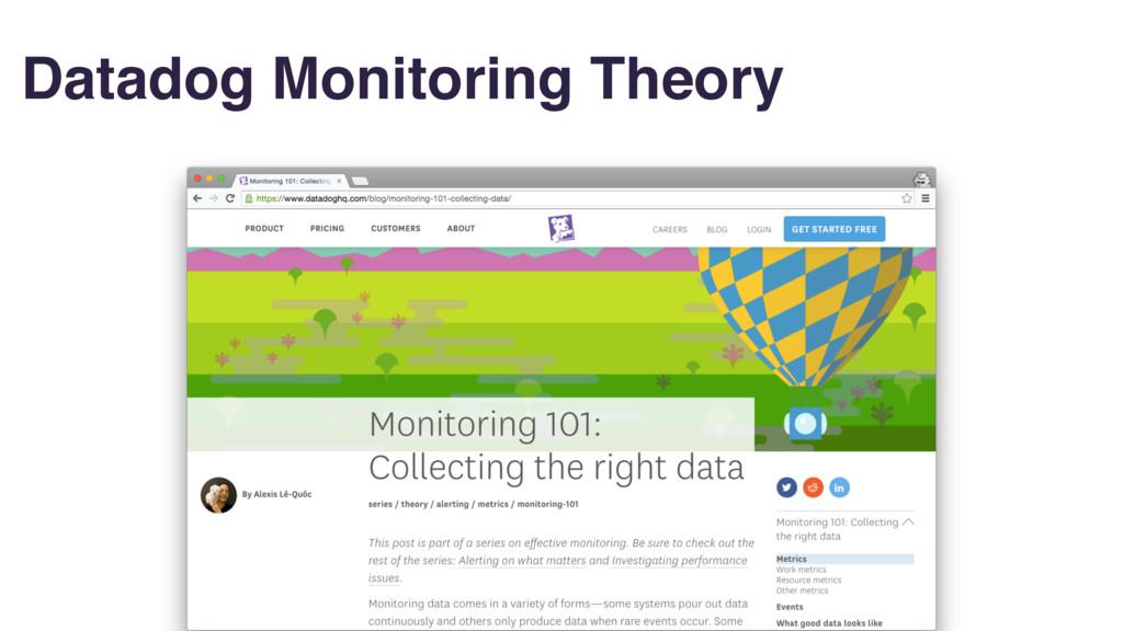 Datadog Monitoring Theory