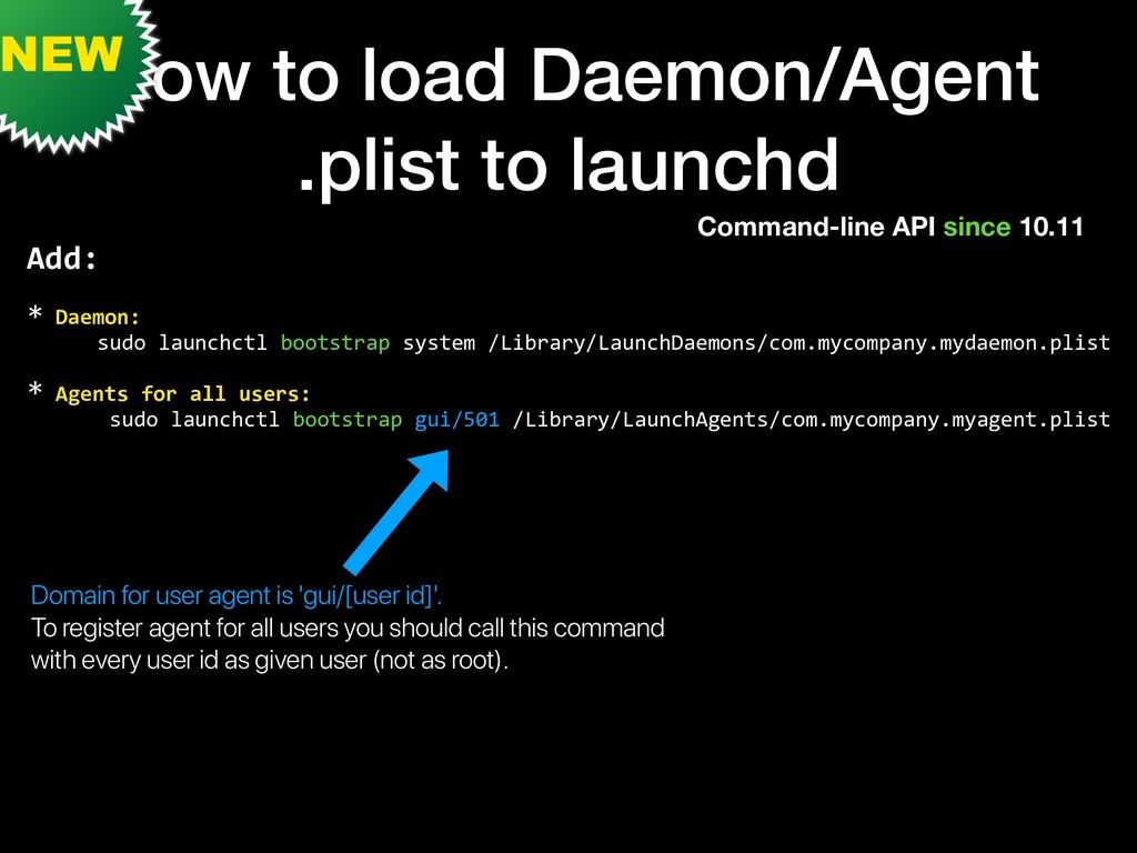 How to load Daemon/Agent .plist to launchd Comm...