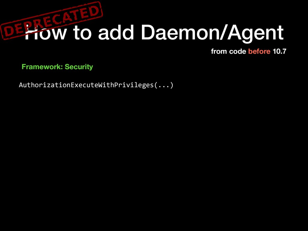 How to add Daemon/Agent Framework: Security Aut...