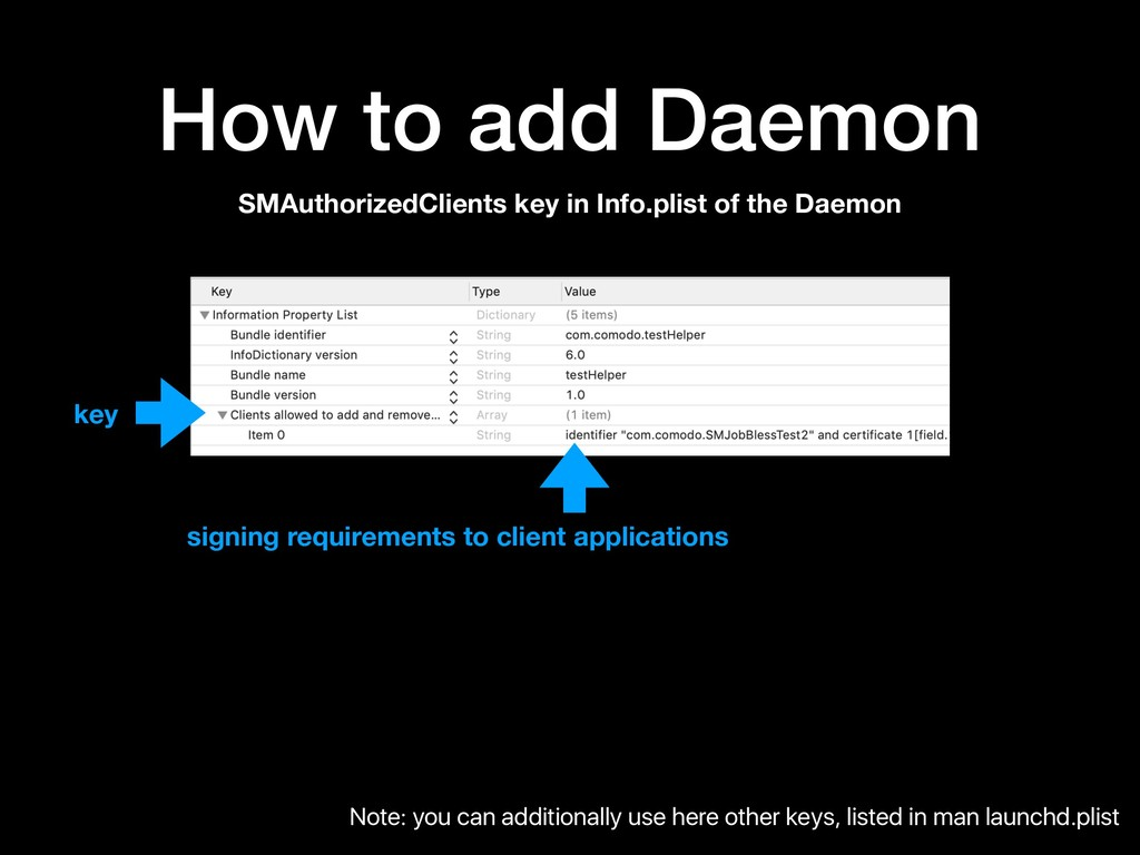 How to add Daemon SMAuthorizedClients key in In...
