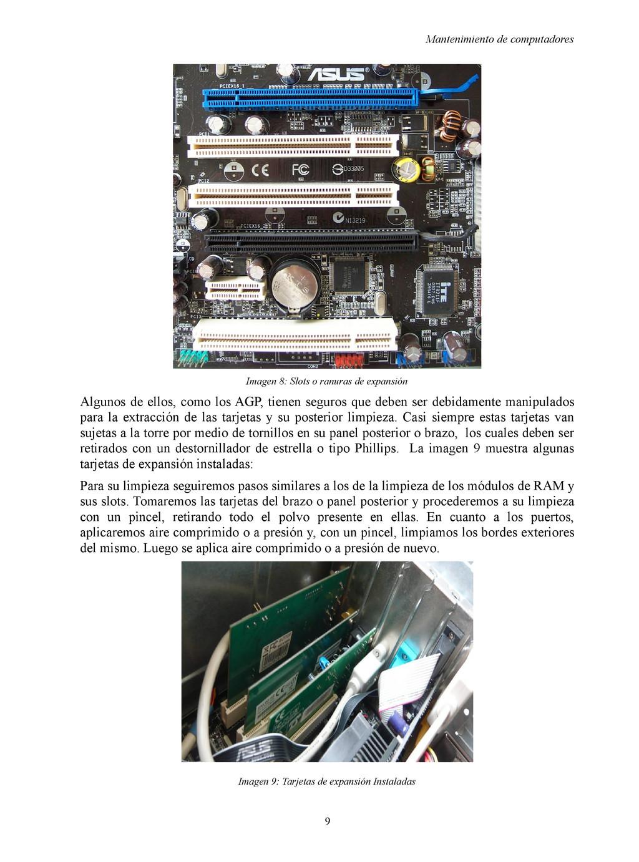 Mantenimiento de computadores Imagen 8: Slots o...