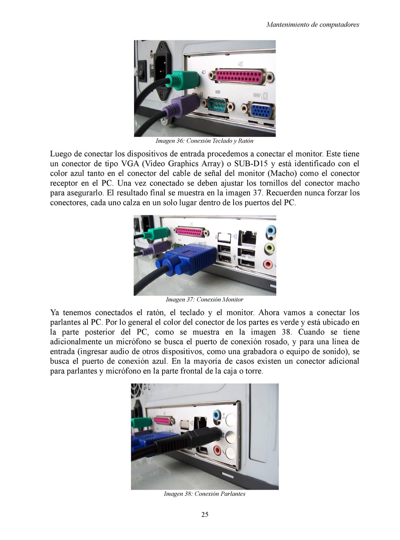 Mantenimiento de computadores Imagen 36: Conexi...