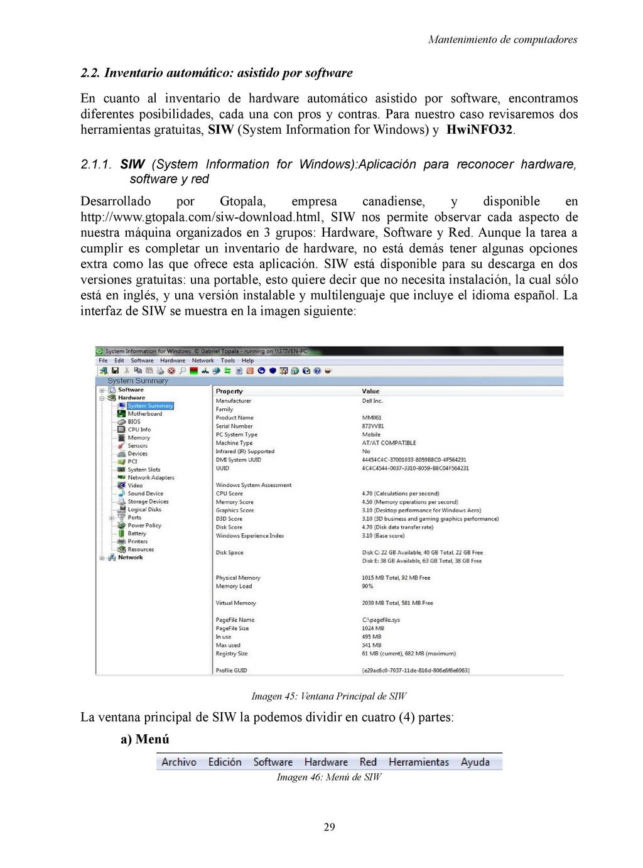 Mantenimiento de computadores 2.2. Inventario a...