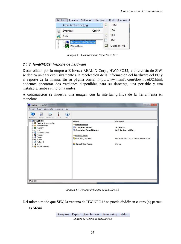 Mantenimiento de computadores Imagen 53: Genera...