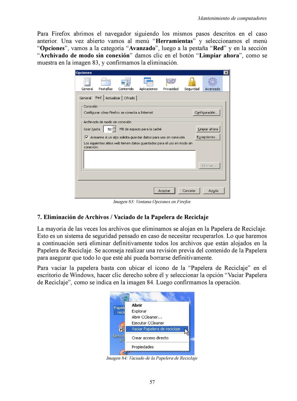 Mantenimiento de computadores Para Firefox abri...