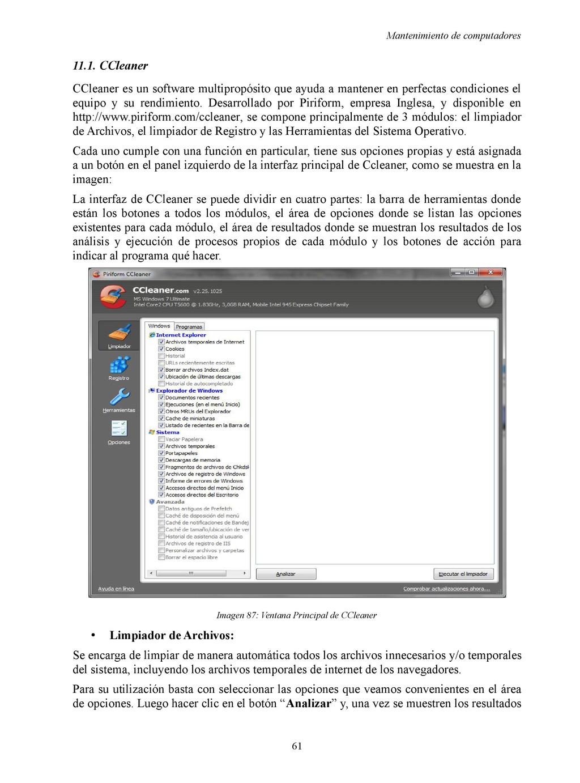 Mantenimiento de computadores 11.1. CCleaner CC...