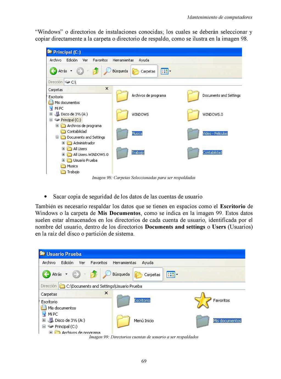 "Mantenimiento de computadores ""Windows"" o direc..."