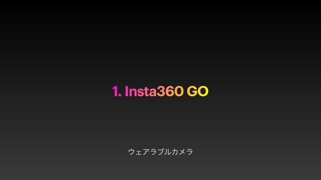 ΣΞϥϒϧΧϝϥ 1. Insta360 GO