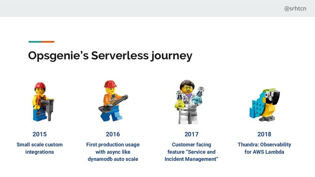 @srhtcn Opsgenie's Serverless journey 2015 2016...