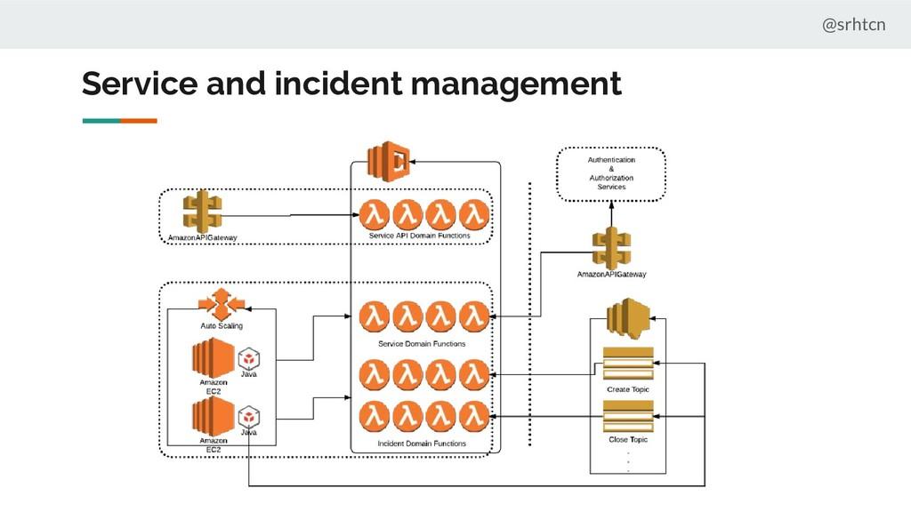Service and incident management @srhtcn