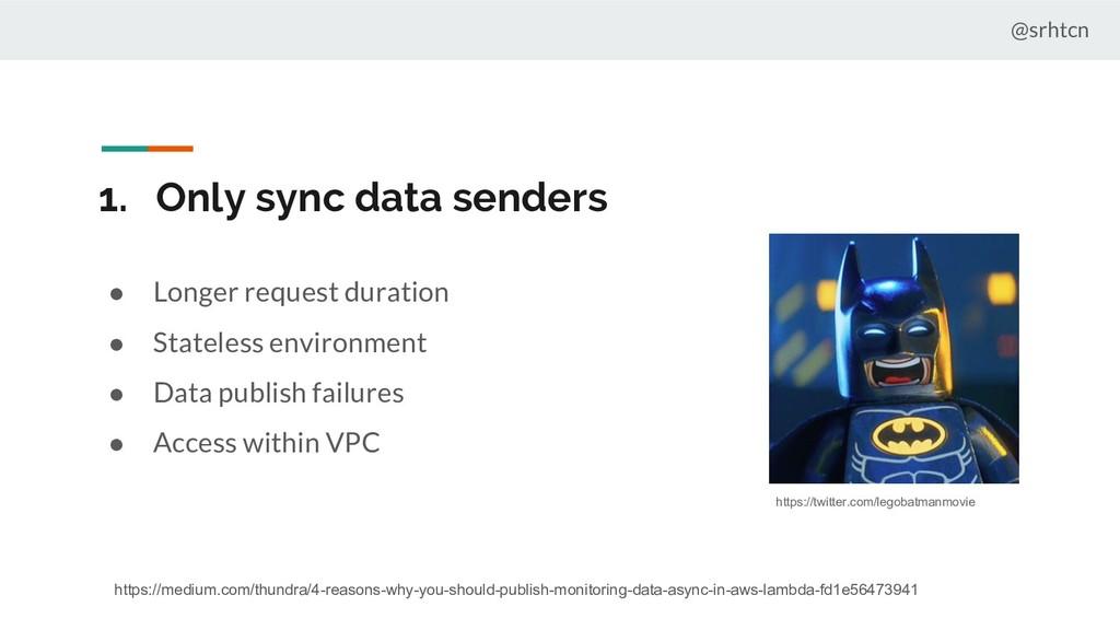 @srhtcn 1. Only sync data senders ● Longer requ...