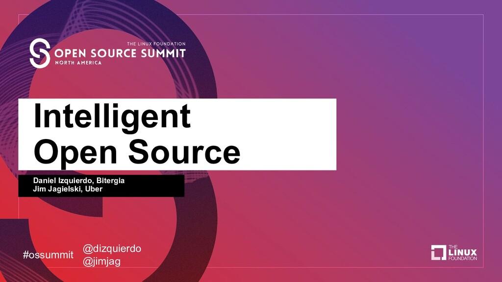 Intelligent Open Source Daniel Izquierdo, Biter...