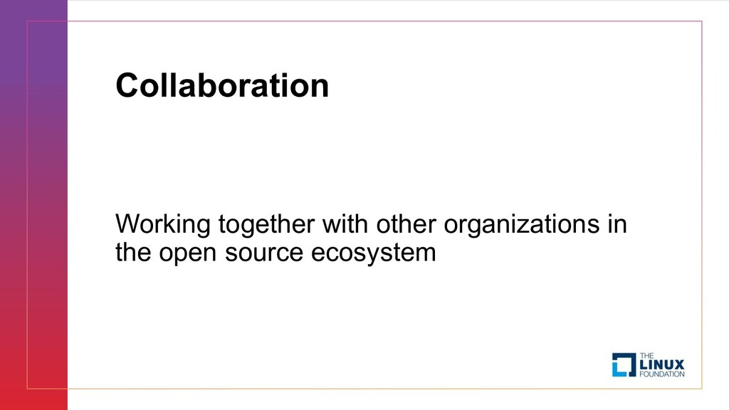 Collaboration Working together with other organ...